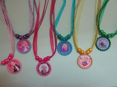 Barbie Inspired Bottlecap Sparkle Necklace by AlainaHopeBoutique, $13.99