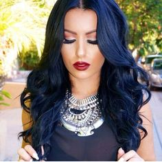 If I ever decide to go back to blue-black I want it to be more like this. I love the blue shade.