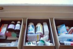 organizing household meds by patient (child or adult) not what they treat