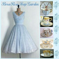 Brea Rose Soap Garden Tea Cup Display, Royal Tea, Rose Soap, Vintage China, Mix N Match, Pretty Dresses, Evening Gowns, Tea Cups, Collages