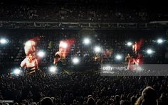 (L-R) Musicians Adam Clayton, Bono,The Edge and Larry Mullen Jr. of U2 perform onstage during the U2 iNNOCENCE   eXPERIENCE tour opener in Vancouver at Rogers Arena on May 14, 2015 in Vancouver, Canada.  (Photo by Kevin Mazur/WireImage)
