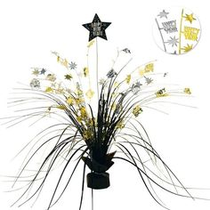 Check out New Year Metallic 15 Foil Spray Centerpiece - Party Supplies from Birthday In A Box New Years Eve Decorations, Birthday Box, Party Supplies, Centerpieces, Metallic, Check, Center Pieces, Table Centerpieces, Centre Pieces