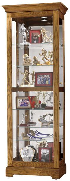 Moorland Curio Cabinet In Oak | Howard Miller | Home Gallery Stores