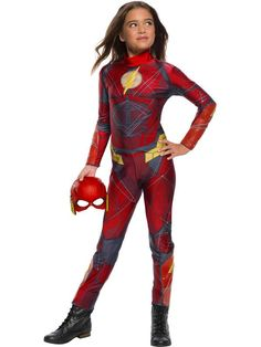 Justice League Flash Costume For Girls