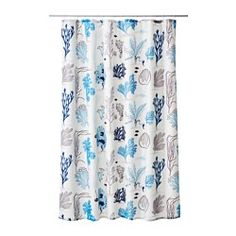 IKEA - MIEÅN, Shower curtain, , Densely-woven polyester fabric with water-repellent coating.The elastic sewn into the bottom edge adds weight to the curtain and assures that it hangs straight.
