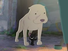 They just LOVE to make me cry... | Pixar's new short 'Kitbull' tells the story of an unlikely friendship between a stray kitten and an abused pit bull.