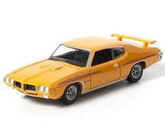 This Pontiac GTO (1970) Diecast Model Car from Two-Lane Blacktop is Orange and features working wheels. It is made by Green Light Collectibles and is 1:64 scale (approx. 6cm / 2.4in long).  ...