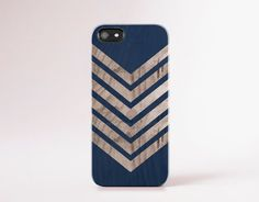 Navy iPhone 6 Case Wood Print Blue iPhone 5 Case by casesbycsera