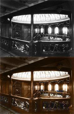 titanic in color grand ballroom