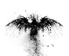 Cool bird stencil. Like the splash effect