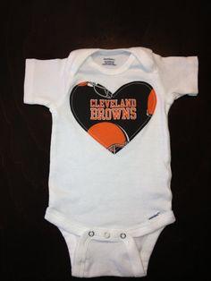 Cleveland Browns Girls Onesie 403e95624