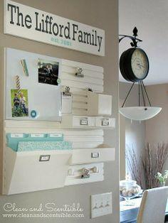 Living, Loving 30: Home Command Center: Inspiration