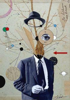 """Saatchi Art Artist LOUI JOVER; Collage, """"mr brightside"""" #art"""