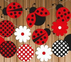 This listing is for a fun ladybug party banner! Mix and match ladybugs, flowers,… This listing is for a fun ladybug party banner! Mix and match ladybugs, flowers, and polka dots to make one or several different party banners and… Continue Reading → Kids Crafts, Diy And Crafts, Paper Crafts, Baby Ladybug, Ladybug Party, Ladybug Decor, Ladybug Garden, Ladybug Crafts, Diy Birthday