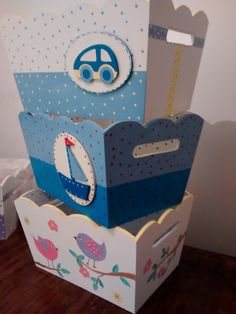 organizador portacosmeticos bebes, ajuar, nacimiento Baby Shawer, Bebe Baby, Baby Box, Baby Boy Nursery Decor, Baby Boy Nurseries, Tole Painting, Painting On Wood, Wood Crafts, Diy And Crafts