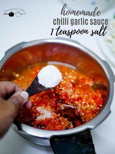 Homemade chilli garlic sauce recipe - Kannamma Cooks Veggie Fries, Veggie Stir Fry, Making Fried Rice, Sweet Chilli Sauce, Asian Recipes, Ethnic Recipes, Garlic Sauce, International Recipes, Sauce Recipes