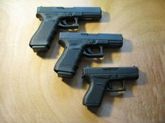 Glock 42 Sub-Compact .380ACP. Here's a real comparison. Glock 17, Glock 19 and then the baby 42