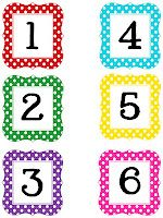 Printables numbers and letters. Love those dots and spots.