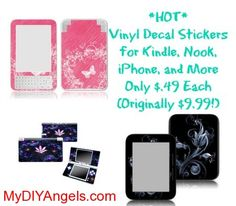 HOT! Vinyl Decal Stickers for Kindle, Nook, iPhone, and More Only $.49 Each (Originally $9.99!) | MY DIY ANGELS, DIY and Extreme Couponers