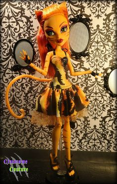 """OOAK Couture """"Fierce ROAR"""" Dress for Monster High and Ever After High Dolls on Etsy, Sold"""