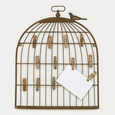 Love this bird cage wall frame. Would look so cute filled with pictures or cards and hanging on a wall.
