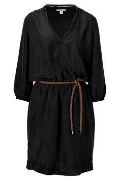 Burberry belted silk dress