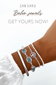 Silver Bracelets, Beaded Bracelets, Simple Summer Outfits, Natural Stone Jewelry, Minimalist Jewelry, Luxury Jewelry, Handmade Silver, Jewelry Sets, Fashion Accessories
