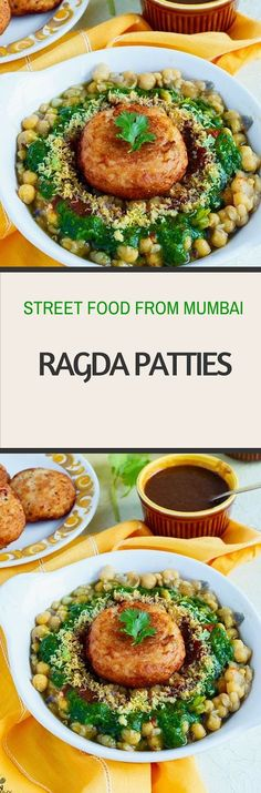 Ragda Patties, Street Food from Mumbai.