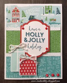 Jolly Christmas card by Liz Mullins. CTMH City Sidewalks.