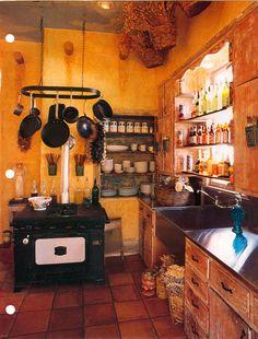warm kitchen interior
