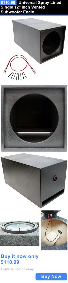 Speaker Sub Enclosures Universal Spray Lined Single 12 Inch Vented Subwoofer Enclosure Box BUY IT NOW ONLY 11099