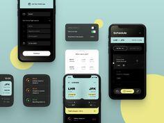 WeFly | Flight Planner 🧳 by Alexander Plyuto 🎲 on Dribbble App Ui Design, Mobile App Design, User Interface Design, Flight App, Bus App, Ios, App Design Inspiration, Mobile App Ui, Design System