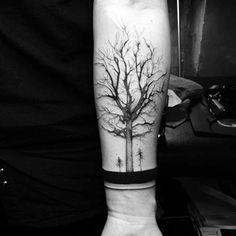 bilek bandı ağaç dövmesi wristband tree tattoo
