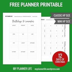 Day 1 of my FREE 12 days of Christmas printables is here!! As a thank you for your support in 2017 please enjoy 12 days of helpful inserts for your planner. Day 1 is a Birthday List!! #planner #planning #ukplanneraddict #planneraddict #thehappyplanner #planahappylife #livecreatively #livecreativelyandplanahappylife #happyplanner #mambiplanner #mambihappyplanner #mambi #thp #hellolife #stationery #freedigitalfile #freeprintable #plannerspread #plannerstickers #iamahappyplanner…