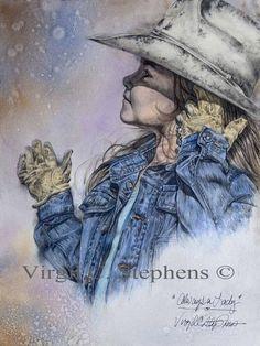Always A Lady, oil painting original by Virgil C. Stephens