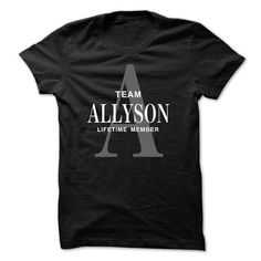 Team ALLYSON Lifetime member - #tshirt diy #sweatshirt organization. OBTAIN LOWEST PRICE => https://www.sunfrog.com/Names/Team-ALLYSON-Lifetime-member.html?68278