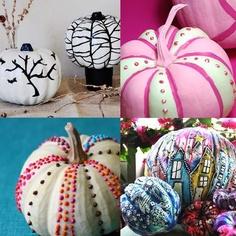 Puffy Paint Pumpkin Painting Ideas