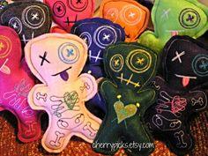 Voodoo Dolls Pin Cushion by CherryPicks on Etsy