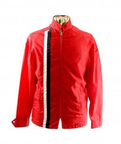 Red striped racing jacket    #vintagebloggers #vintagefashion #vintage #retro   #vintageclothing #80s #1980s #vintagejacket