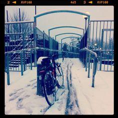 Crossing Lambro... #cycletherapy #LaMiaBambina #biketowork