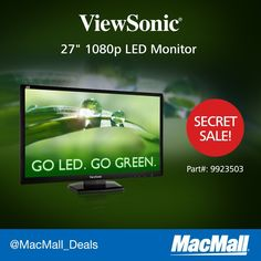 With a 10M: 1 contrast ratio & 3ms response, don't miss the #ViewSonic LED monitor #SecretSale
