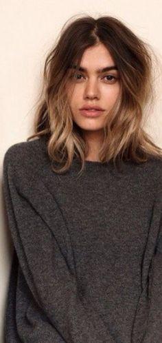 Ashy blonde with dark roots