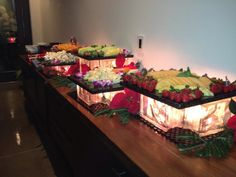 Lighted Fruit Display