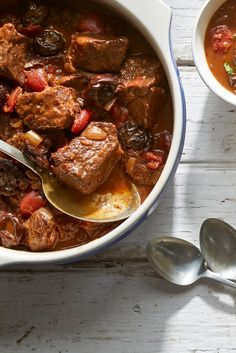 Braised dishes like this beef stew may feature green, orange, yellow or red vegetables but their most appetizing color is brown, the shade of brown whose glossy darkness shouts intensity and richness. The key to achieving that glorious color and flavor is sufficient browning of the meat. Don't rush. The good thing is, this savory-sweet stew can almost be ignored while it is cooking and can be made in advance, the night – or even two – before you serve it. (Photo: Michael Kraus for NYT)