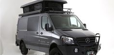 Aluminess front bumper on Mercedes Sprinter van by Exclusive Motors