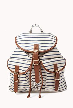 Nautical Striped Backpack $29.80. js