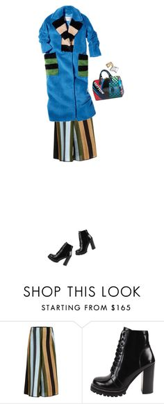 """22."" by sharplilteeth ❤ liked on Polyvore featuring Circus Hotel, Jeffrey Campbell, stripes, louisvuitton and statementbag"