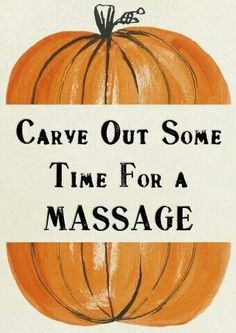 Carve out time for a massage! :)