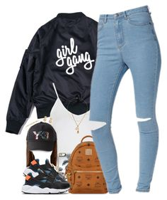 """""""Girl Gang"""" by oh-aurora ❤ liked on Polyvore featuring Topshop, Zero Gravity, MCM, NIKE, Chanel, Y-3, Yves Saint Laurent, Givenchy and Jennifer Zeuner"""