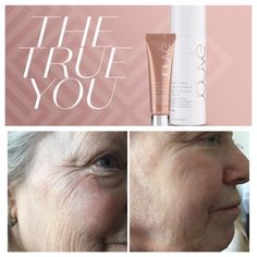 Jouvé tightening serum, results after 90 seconds.